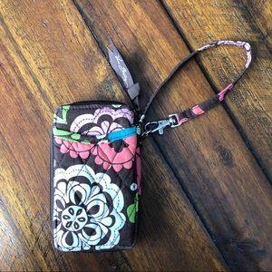 Vera Bradley Lola Paisley Mod Flower Zip Wristlet